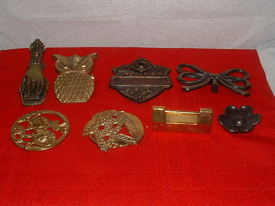 Lot Of Eight Brass And Copper Items. One Copper, Seven  Brass. 8  In All.