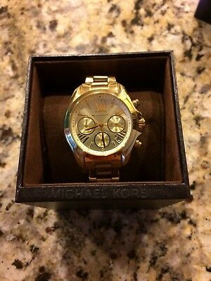 b86facfd19b Michael Kors Women s Bradshaw Chrono 100m Gold Tone Stainless Steel Watch  MK5798