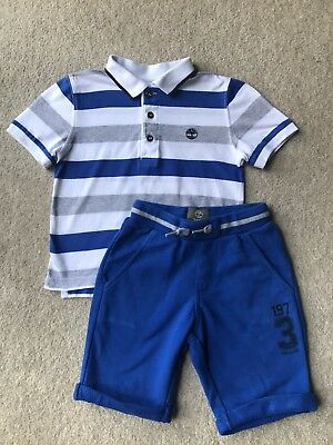 Boys Timberland Shorts And T-shirt Outfit/Set Age 3-4