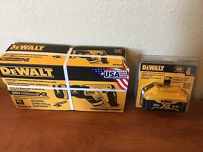 DEWALT XR 20-Volt Max Brushless Cordless Reciprocating Saw with 6ah Battery