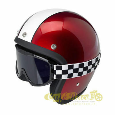 Occhiali biltwell moto custom CHECKERED cafe racer SCRAMBLER VINTAGE OLD STYLE