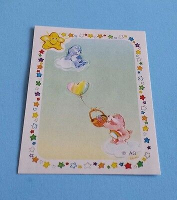 Vintage 1985 Panini Care Bears Grumpy Bear/Cheer Bear Sticker #187