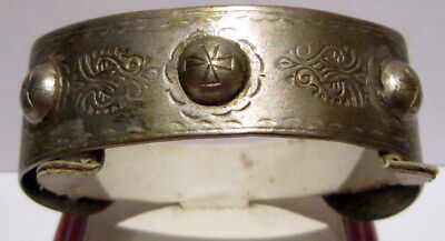 RARE AMAZING ANTIQUE 18th-19th CENTURY SILVER BRACELET(LOW SILVER) # 362