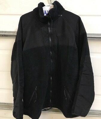 new Polartec 300 Cold Weather Military Style Fleece ECW Jacket Black Large Nice!