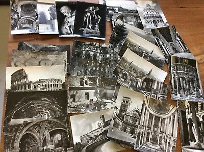 """Vintage Lot of 25 -  Black & White Glossy Photos Postcards  - unposted 4""""x6"""""""