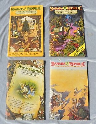 Banana Republic Vintage Catalogues, 1980s, Lot of 4: Nos. 21, 22, 22 Update, 23.