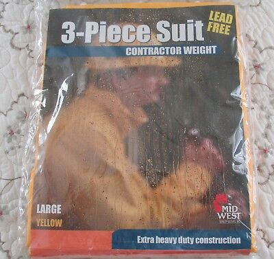 3-Piece Suit Contractor Weight Large Yellow For Outside Woirker