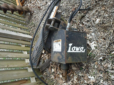 "Skid Steer Attachment Lowe 1650 Classic Auger Drive & 9"" Bit Bobcat, Case, Cat."