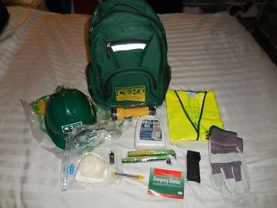(340) CERT Community Emergency Response Team 17pc survival Backpack Hat,Tool Etc