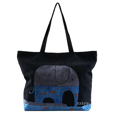 Girls Women Shopping Bag Shoulder Tote Handbag Folding Bag Beach Bag Elephants