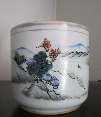 ANTIQUE 19th Century  Chinese Qing Dynasty SIGNED Porcelain CENSER with POEM