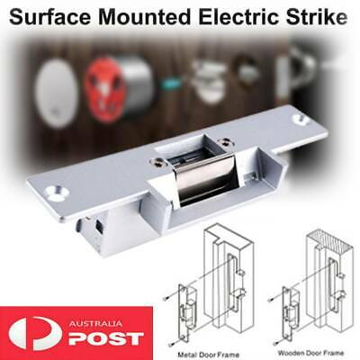 Silver Electric Door Gate Strike Surface Mount Type Locks Outdoor Use 12V DC