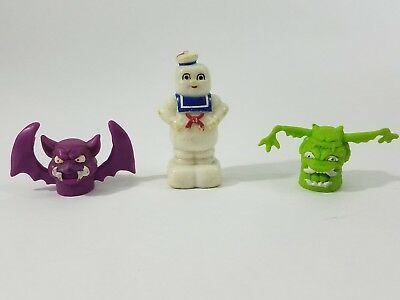 Ghostbusters Stay Puft Marshmallow Man Pencil Sharpner and Pencil Toppers Lot