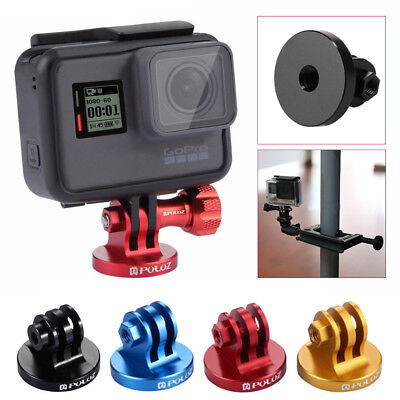 NEW PULUZ CNC Camcorder Tripod Mount Adapter+Screw For GoPro HERO 6 5 4 3/ 3 2 1