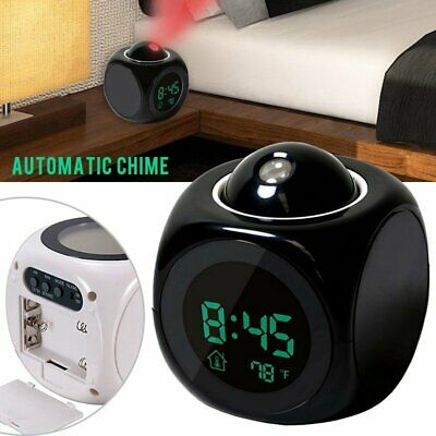 Digital LED Voice Talking LED Projection Alarm Clock Time Temperature Projector