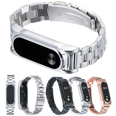 For Xiaomi Mi Band 2 Stainless Steel Luxury Wristband Metal Ultrathin Strap UK X
