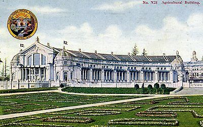 Seattle WA Alaska Yukon Pacific Exposition 1909 Agricultural Building Postcard