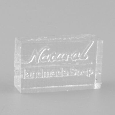 Acrylic Rectangle Natural Handmade Clear Soap Stamp Seal Mold Craft DIY