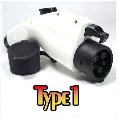 Premium GEN 2 Type 1 J1772 Plug 32A for Electric Vehicle - Black or White