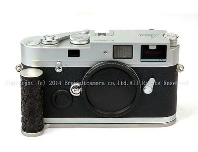 New Ebony curly grass-pattern steel silver hand grip for Leica MP camera