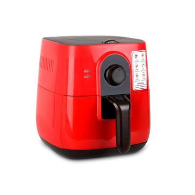 3L Air Fryer 5 Star Chef Low Fat Oil Free Rapid Deep Cooker Kitchen Recipe Red