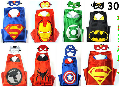 Cape for Kid birthday party ideas and favors Superhero Cape(1 Cape&1 Mask) Kids