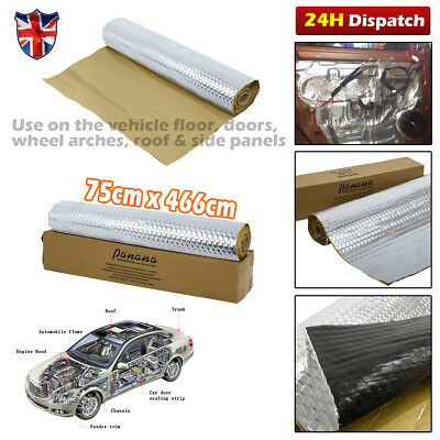 4.66M Silent Coat Dead Mat Hex Van Sound Deadening Roll Vibration Proofing Mat