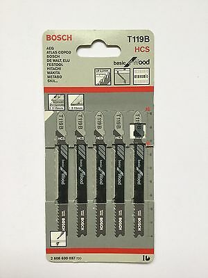 Wood cutting jig saw blades Bosch HCs 1X cards of 5 blades T119b