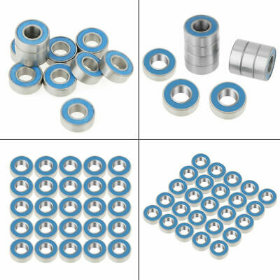 25Pcs 5x11x4mm MR115-2RS 5*11*4mm Rubber Sealed Ball Bearing Bearings Blue ams