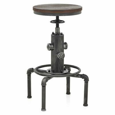 Adjustable Antique Bar Stool Vintage Industrial Swivel Fire Hydrant Dining Chair