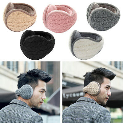 1PC Unisex Women Men Winter Earmuff Knit Adjustable Wrap Around Ear Muffs Warmer