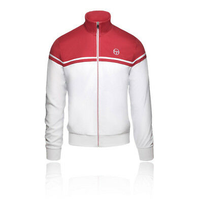 Sergio Tacchini Mens Young Line Pro Tracktop Red White Sports Tennis Full Zip