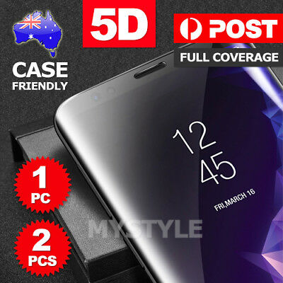Galaxy S9 S8 Plus Note 8 5D Full Tempered Glass Screen Protector For Samsung AU