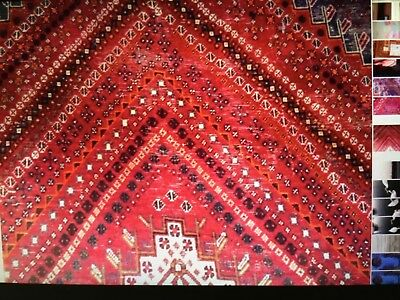 XL beautiful genuine hand knotted  Persian rug. Red,blue,orange. STUNNING!!!