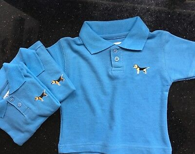 Boys Baby Barkers Polo Shirt Age 18-24 Months 1.5-2 Years Brand New