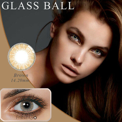 1 Pair Eye Makeup Charming Colored Contact Lenses Unisex Cosmetic Tool Con Clase