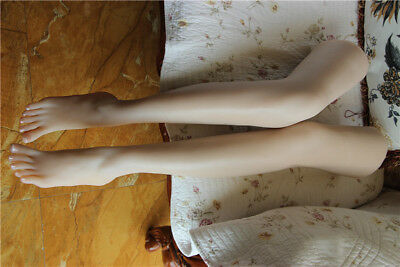 Long Female Foot Mannequin Silicone Foot Model Shoes Display 37# 9kg