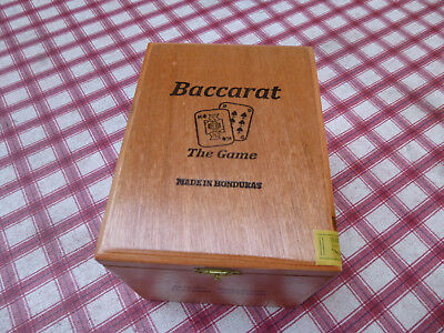 1 Wood Cigar Box Handmade Honduras BACCARAT GORDO Hinged Empty DoveTail