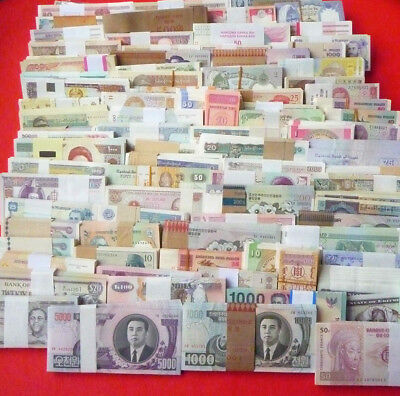New Paper Money 100 World Banknotes UNC from 30 countries