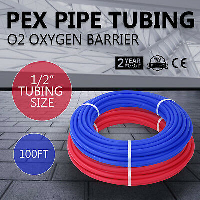 1/2X100ft 2 Rolls Pex Tubing Oxygen Barrier EVOH Pex-B Radiant Floor Heat Safe