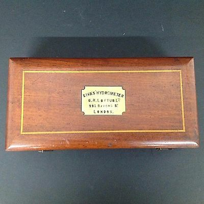 Victorian Mahogany Cased Sikes Hydrometer By W.R.Loftus 321 Oxford Street London