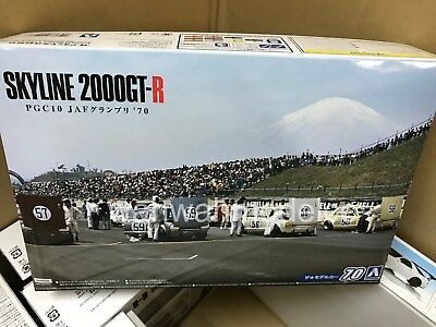 Aoshima 55236 Model Car 70 Nissan PGC Skyline 2000GT-R JAF GP '70 1/24 scale kit