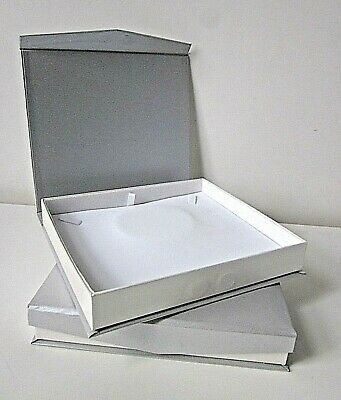 Large Necklace Jewellery Gift Present Display Box-Silver/White-Top Quality-NEW