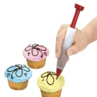 Syringe Chocolate Pen Icing Pen Nozzles Tips Silicone Cake Cupcake Decoration
