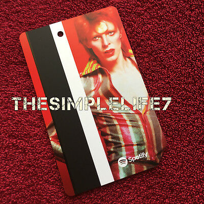 DAVID BOWIE : MTA Metro Card NYC Limited Edition - Red (No Fare)