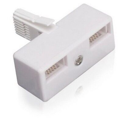 BT Adaptor Double Telephone Phone Socket 2 way Cable Splitter Adapter NEW SEALED