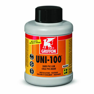 Griffon Uni-100 - Solvent Weld Pipe Cement - PVC Pipe Glue [KIWA Approved] 25...