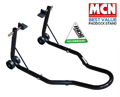 New Universal Motorcycle Sportbike Track Day Garage Pit Rear Paddock Stand Black