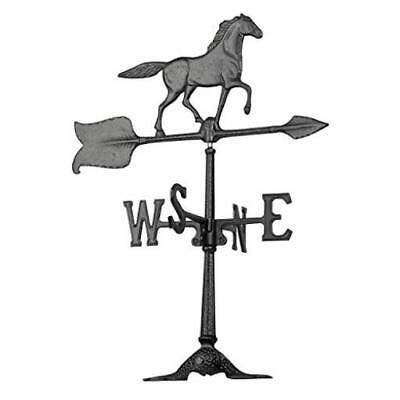 "Whitehall Products Horse Accent Weathervane 24"" Black US SELLER New"