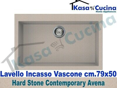 Lavello Incasso Cucina Fragranite Avena cm.79X50 1 Vasca / Vascone